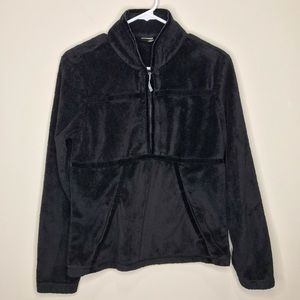 Athleta 1/2 zip black fleece Sz S